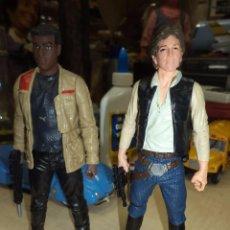 Figuras y Muñecos Star Wars: LOTE 2 FIGURAS STAR WARS.HAN SOLO Y FINN.HASBRO.15 CM.. Lote 98711231