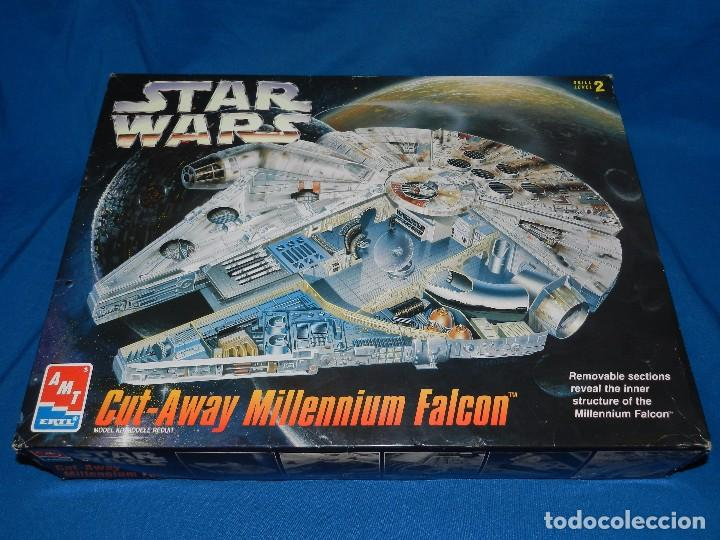 (M) STAR WARS CUT-AWAY MILLENNIUM FALCON , SKILL LEVEL 2 , AMT ARTL , VER  FOTOGRAFIAS