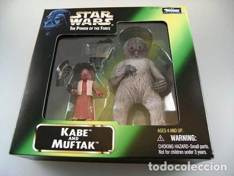 STAR WARS KENNER THE POWER OF THE FORCE KABE AND MUFTAK NUEVO BLISTER (Juguetes - Figuras de Acción - Star Wars)