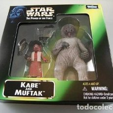 Figuras y Muñecos Star Wars: STAR WARS KENNER THE POWER OF THE FORCE KABE AND MUFTAK NUEVO BLISTER. Lote 100329095