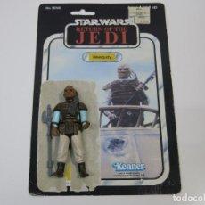 Figuras y Muñecos Star Wars: STAR WARS VINTAGE FIGURA Y CARDBACK CARTON ORIGINALES ROTJ WEEQUAY.. Lote 100531827