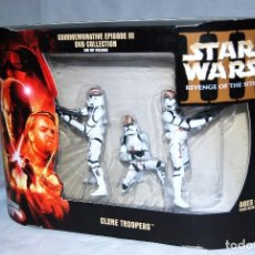 Figuras y Muñecos Star Wars: SET CLONE TROOPERS EDICION LIMITADA COMMEMORATIVE EPISODE III DVD EPISODIO STAR WARS VENGANZA SITH. Lote 100544631