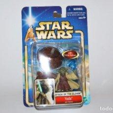 Figuras y Muñecos Star Wars: STAR WARS YODA MASTER MAESTRO ATAQUE DE LOS CLONES ATTACK OF THE CLONES 2002 SAGA. Lote 100694151