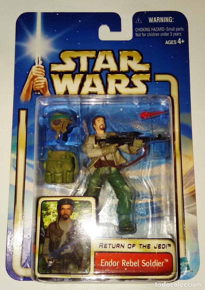 STAR WARS # ENDOR REBEL SOLDIER # ATTACK OF THE CLONES - NUEVO EN SU BLISTER ORIGINAL DE HASBRO. (Juguetes - Figuras de Acción - Star Wars)