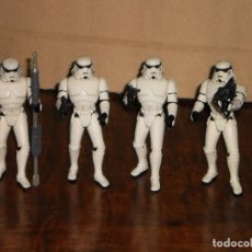 Figuras y Muñecos Star Wars: LOTE 4 FIGURAS STORMTROOPER - STAR WARS - THE POWER OF THE FORCE – KENNER 1996.. Lote 103062715
