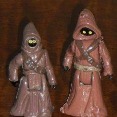 Figuras y Muñecos Star Wars: STAR WARS - 2 FIGURAS DE JAWAS – ACOMPAÑANTES DE SANDCRAWLER VEHICLE . Lote 103118235