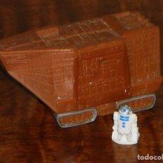 Figuras y Muñecos Star Wars: TRANSPORTE JAWA-SANDCRAWLER-REPTADOR DE LAS ARENAS - CON MINI FIGURA R2D2-1997 MCDONALDS. Lote 103118583