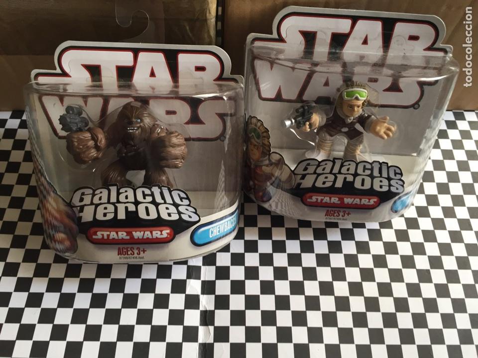 GALACTIC HÉROES CHEWBACCA &HAN SOLO STAR WARS NUEVOS (Juguetes - Figuras de Acción - Star Wars)