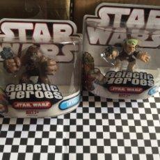 Figuras y Muñecos Star Wars: GALACTIC HÉROES CHEWBACCA &HAN SOLO STAR WARS NUEVOS. Lote 103489799