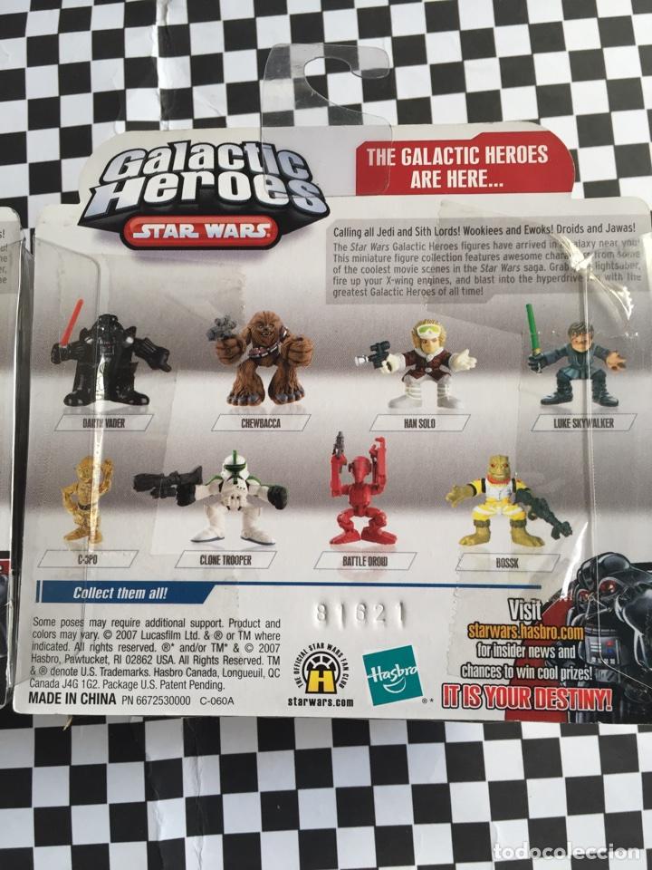 Figuras y Muñecos Star Wars: Galactic Héroes Chewbacca &Han Solo Star Wars nuevos - Foto 4 - 103489799