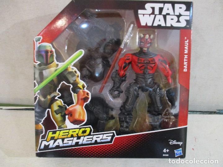 STAR WARS FIGURA DARTH MAUL HERO MASHERS HASBRO NUEVA SIN ABRIR DISNEY (Juguetes - Figuras de Acción - Star Wars)