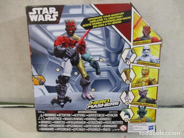 Figuras y Muñecos Star Wars: STAR WARS FIGURA DARTH MAUL HERO MASHERS HASBRO NUEVA SIN ABRIR DISNEY - Foto 2 - 104613491