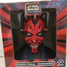 Figuras y Muñecos Star Wars: STAR WARS FANTASTICO BUSTO DE DARTH MAUL NUEVO SIN ESTRENAR DISNEY. Lote 104617231