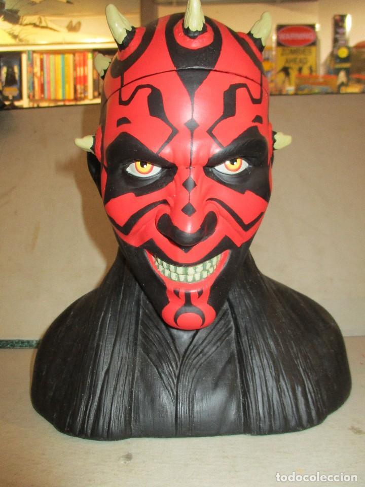Figuras y Muñecos Star Wars: STAR WARS FANTASTICO BUSTO DE DARTH MAUL NUEVO SIN ESTRENAR DISNEY - Foto 2 - 104617231