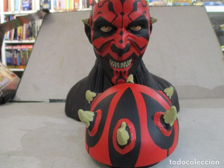 Figuras y Muñecos Star Wars: STAR WARS FANTASTICO BUSTO DE DARTH MAUL NUEVO SIN ESTRENAR DISNEY - Foto 3 - 104617231