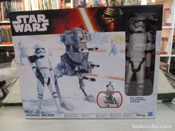 STAR WARS STORMTROOPER SARGENTO CON WALKER DE ASALTO NUEVO SIN ESTRENAR DISNEY (Juguetes - Figuras de Acción - Star Wars)