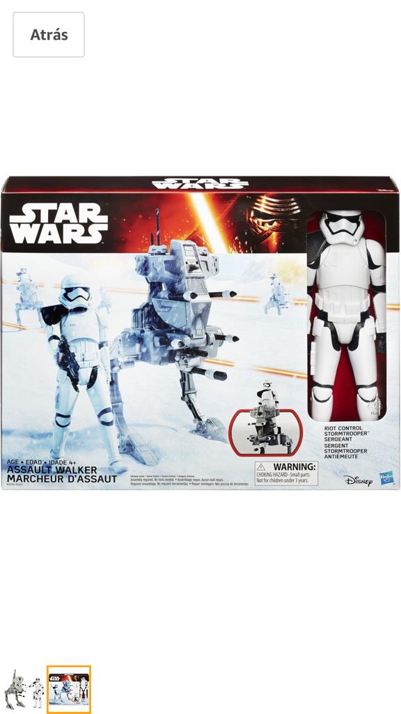 Figuras y Muñecos Star Wars: Star Wars 12 pulgadas Figuras y Vehiculos Storm Trooper (primer orden) y Asalto Walker - Foto 3 - 105059319