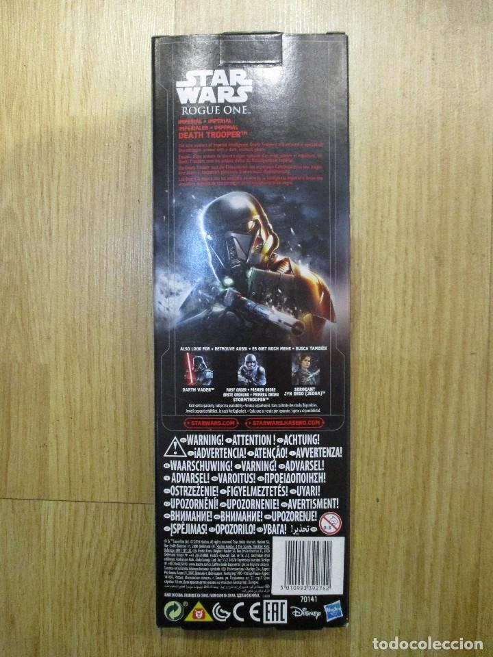 Figuras y Muñecos Star Wars: FIGURA DEATH TROOPER ROUGE ONE STAR WARS 30 CM HASBRO NUEVA SIN ABRIR - Foto 2 - 105276675