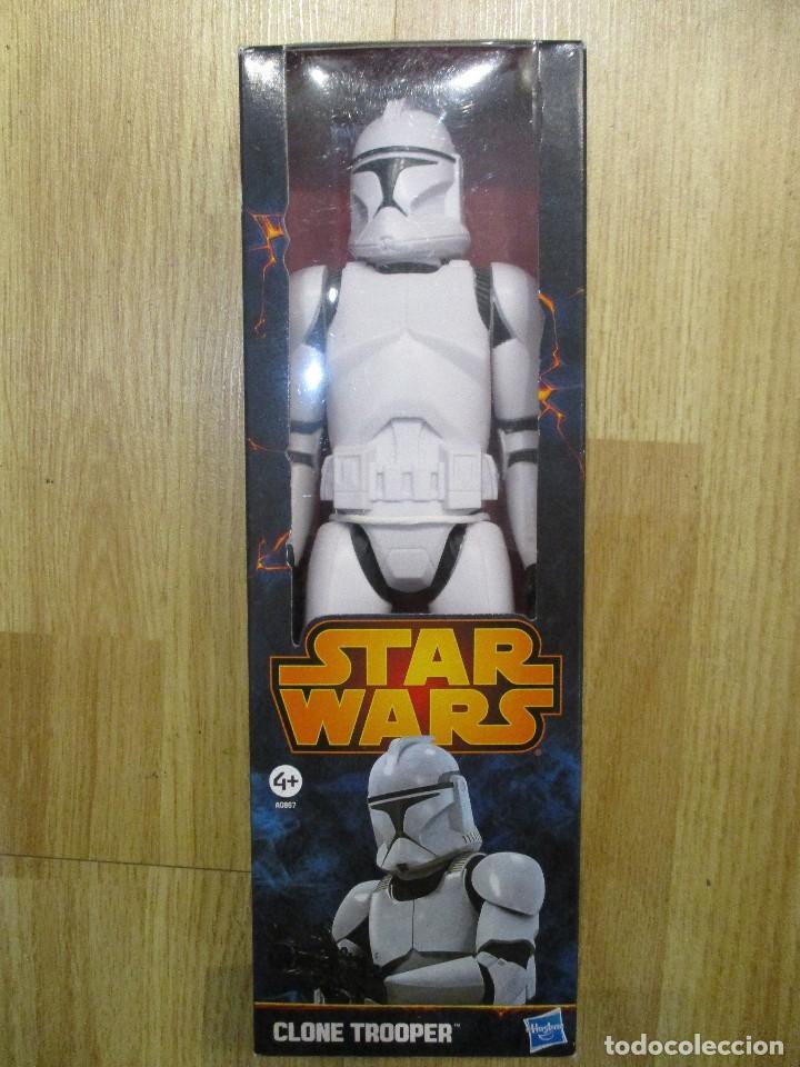 FIGURA CLONE TROOPER STAR WARS 30 CM HASBRO NUEVA SIN ABRIR (Juguetes - Figuras de Acción - Star Wars)