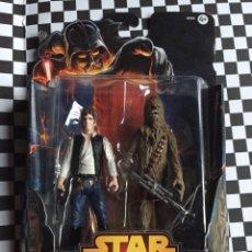 Figuras y Muñecos Star Wars: STAR WARS HAN SOLO+CHEWBACCA 07 MISSION SERIES DEATH STAR. Lote 105601920