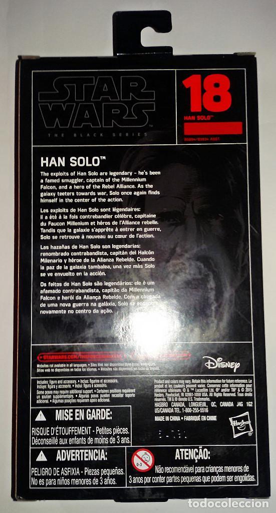 Figuras y Muñecos Star Wars: STAR WARS # HAN SOLO # THE BLACK SERIES ( 18 ) - 15 CM - NUEVO EN BLISTER DE HASBRO. - Foto 2 - 105623507