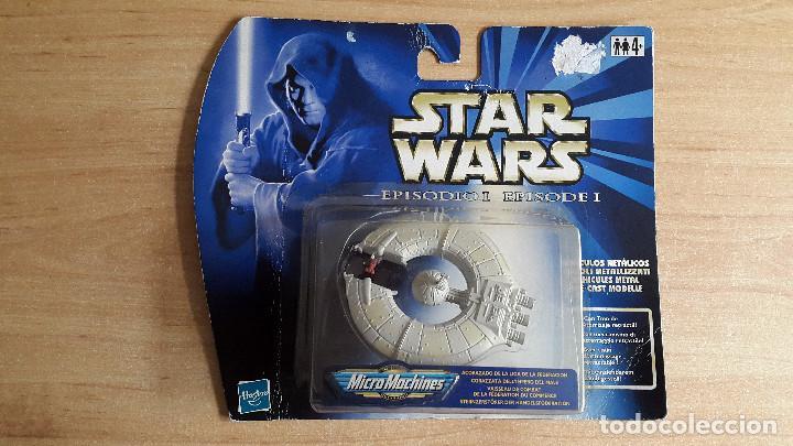 STAR WARS MICROMACHINES (NAVE ESPACIAL) - ACORAZADO DE LA LIGA DE LA FEDERACION - EPISODE I - BLISTE (Juguetes - Figuras de Acción - Star Wars)