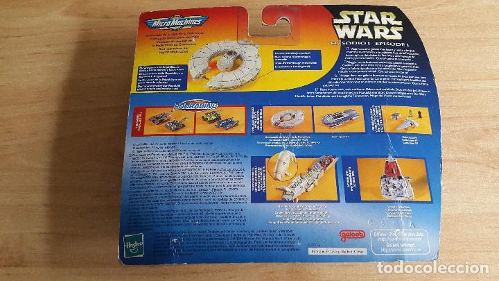 Figuras y Muñecos Star Wars: STAR WARS MICROMACHINES (NAVE ESPACIAL) - acorazado de la liga de la federacion - episode I - bliste - Foto 2 - 105716327