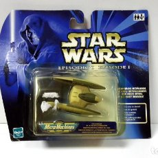 Figuras y Muñecos Star Wars: MICROMACHINES STAR WARS NAVE ESTELAR EPISODIO I-SE ABREN LAS ALAS-HASBRO. Lote 106107199
