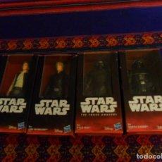 Figurines et Jouets Star Wars: STAR WARS HASBRO DISNEY EN BLISTER DARTH VADER, LUKE SKYWALKER, HAN SOLO Y KYLO REN REGALO 2 AVATONS. Lote 106192615