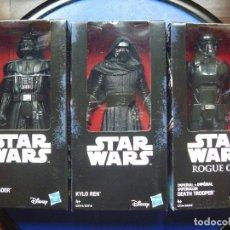Figuras y Muñecos Star Wars: GRAN LOTE 3 FIGURAS STAR WARS DARTH VADER KYLO REN DEATH TROOPER REGALO SELLOS CORREOS HOLOGRÁFICOS. Lote 106692687