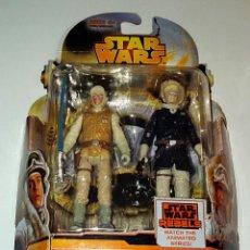 Figuras y Muñecos Star Wars: STAR WARS # LUKE SKYWALKER & HAN SOLO # REBELS - NUEVO EN SU BLISTER ORIGINAL DE HASBRO.. Lote 107367351