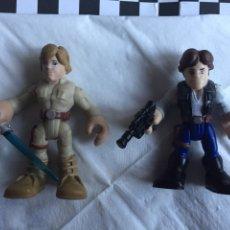 Figuras y Muñecos Star Wars: PLAYSKOOL HEROES STAR WARS HAN SOLO Y LUKE. Lote 107584972