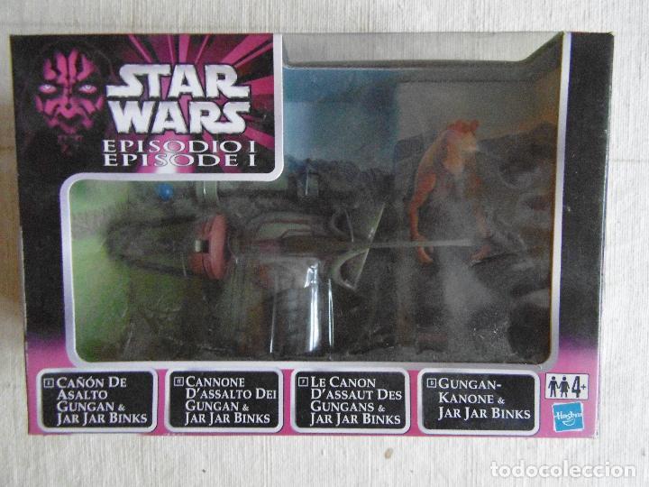 STAR WARS CAÑON DE ASALTO GUNGAN CON JAR JAR BINS HASBRO SIN ABRIR (Juguetes - Figuras de Acción - Star Wars)