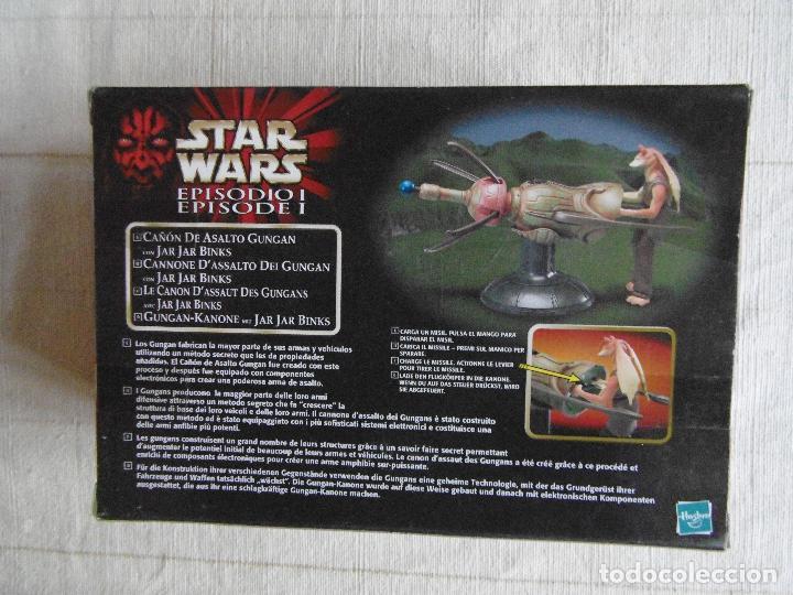 Figuras y Muñecos Star Wars: STAR WARS CAÑON DE ASALTO GUNGAN CON JAR JAR BINS HASBRO SIN ABRIR - Foto 2 - 107711123