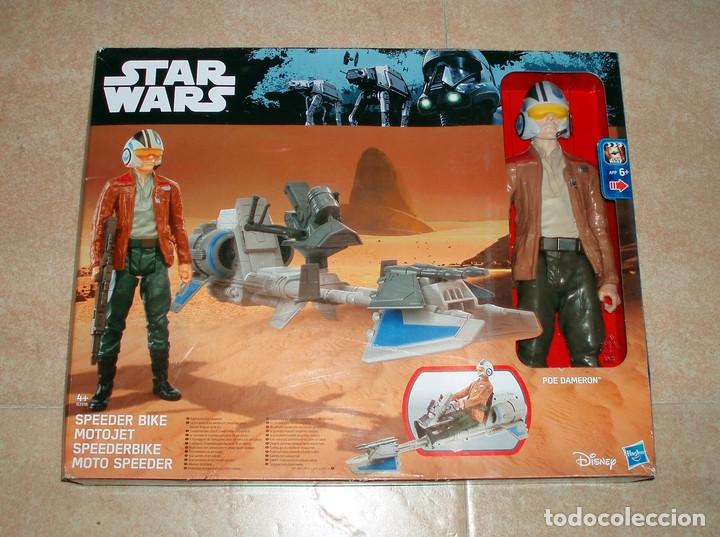 STAR WARS THE FORCE AWAKENS SPEEDER BIKE MOTO JET & POE DAMERON HASBRO DISNEY NUEVO ESTRENAR (Juguetes - Figuras de Acción - Star Wars)