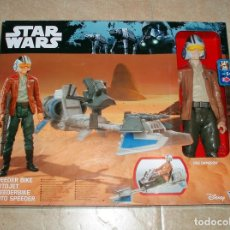 Figuras y Muñecos Star Wars: STAR WARS THE FORCE AWAKENS SPEEDER BIKE MOTO JET & POE DAMERON HASBRO DISNEY NUEVO ESTRENAR. Lote 107938559