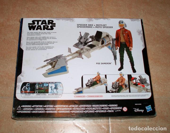 Figuras y Muñecos Star Wars: STAR WARS THE FORCE AWAKENS SPEEDER BIKE MOTO JET & POE DAMERON HASBRO DISNEY NUEVO ESTRENAR - Foto 2 - 107938559
