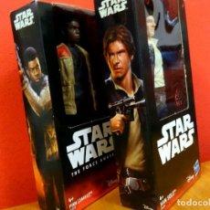 Figuras y Muñecos Star Wars: FIGURA STAR WARS HAN SOLO HARRISON FORD FINN JOHN BOYEGA HASBRO EN SU EMBALAJE ORIGINAL 1 12€ 2 20€. Lote 108788999