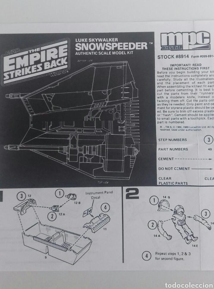 Figuras y Muñecos Star Wars: Maqueta Star Wars Snowspeeder de MPC/ERLT (ESB) - Foto 9 - 107048082
