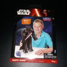 Figuras y Muñecos Star Wars: JUGUETE PUZZLE 3D. DARTH VADER, MODELO DE PAPEL (PAPER CRAFT) DE BLUEPRINTS. NUEVO. Lote 109209923