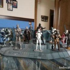 Figuras y Muñecos Star Wars: FIGURAS DE PLOMO STAR WARS (COLECCION COMPLETA) + BASES METALICAS + FASCICULOS (PLANETA 2005). Lote 109792527