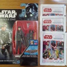 Figuras y Muñecos Star Wars: BLISTER JYN ERSO - ROGUE ONE. NUEVO, SIN DESPRECINTAR. INCLUYO TRES SOBRES DE STAR WARS SIN ABRIR.. Lote 110017067