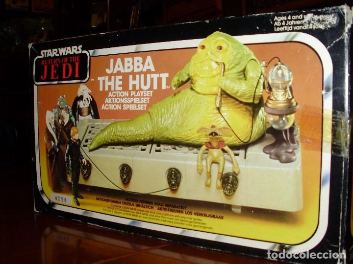 Figuras y Muñecos Star Wars: JABBA THE HUTT VINTAGE STAR WARS STARWARS CAJA COMPLETO 1983 RETORNO DEL JEDI - Foto 2 - 110070783