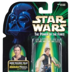 Figuras y Muñecos Star Wars: STAR WARS THE POWER OF THE FORCE - HAN SOLO - HASBRO. Lote 110320519