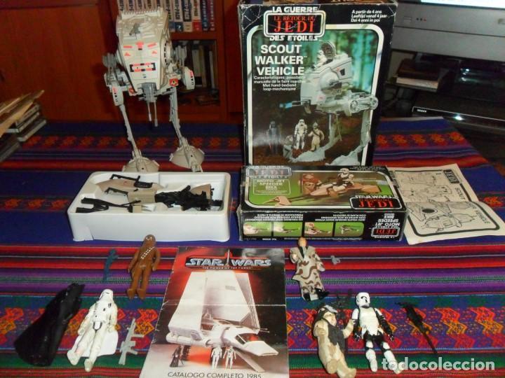 Figuras y Muñecos Star Wars: STAR WARS CATÁLOGO COMPLETO 1985 POCH PBP KENNER. SCOUT WALKER VEHICLE. MOTO JET SPEEDER BIKE CAJA. - Foto 2 - 110479723