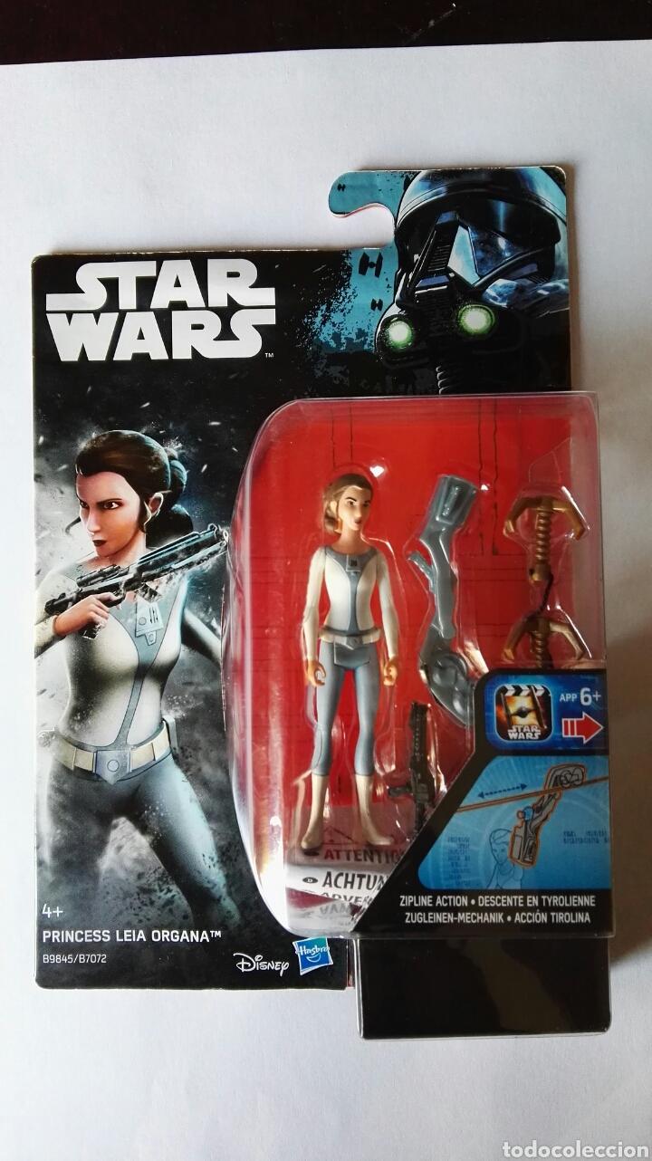 PRINCESS LEIA ORGANA STAR WARS HASBRO ACCIÓN TIROLINA (Juguetes - Figuras de Acción - Star Wars)