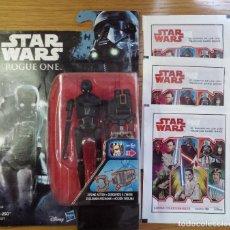 Figuras y Muñecos Star Wars: STAR WARS ROGUE ONE - K 2SO -BLISTER NUEVO SIN ABRIR - HASBRO - MÁS TRES SOBRES SIN ABRIR.. Lote 111686723