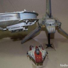 Figuras y Muñecos Star Wars: TRES MAQUETAS LANZADERA ,INTERCEPTOR Y HALCÓN MILENARIO . Lote 111824999
