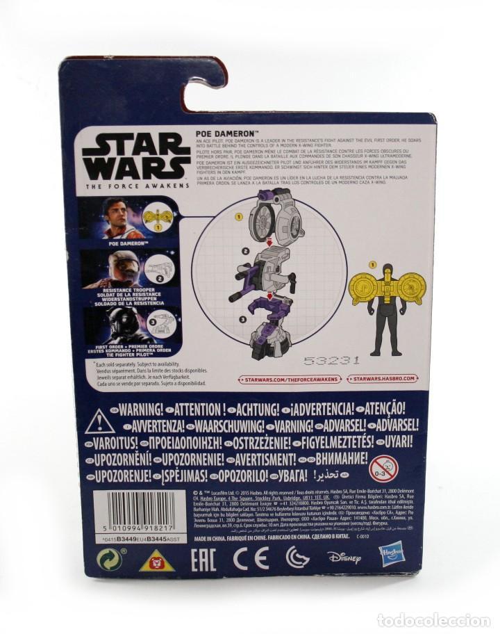 Figuras y Muñecos Star Wars: Blister Star Wars Poe Dameron - Hasbro - Disney - B3449 - Nuevo - Foto 2 - 112451643