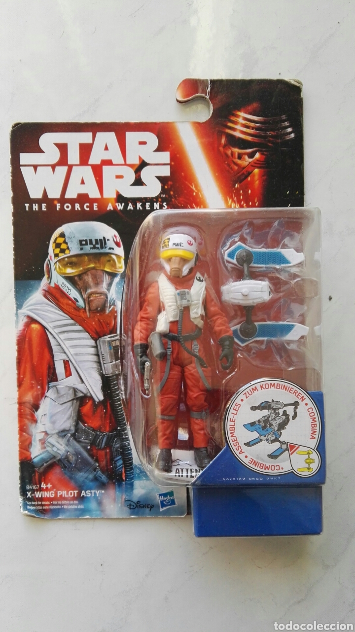 STAR WARS THE FORCE AWAKENS X-WING PILOT ASTY FIGURA HASBRO (Juguetes - Figuras de Acción - Star Wars)